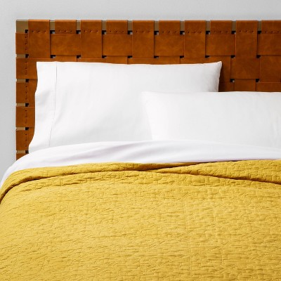 Full/Queen Garment Washed Quilt Yellow - Opalhouse™