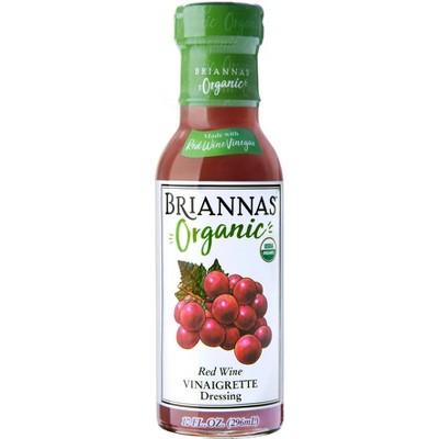 Briannas Organic Red Wine Vinaigrette Dressing - 10fl oz