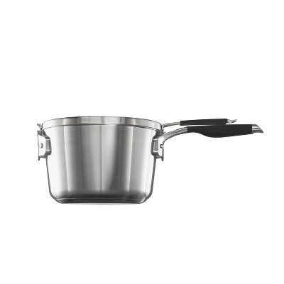 Select by Calphalon 3.5qt Stainless Steel Space Saving Sauce Pan with Cover