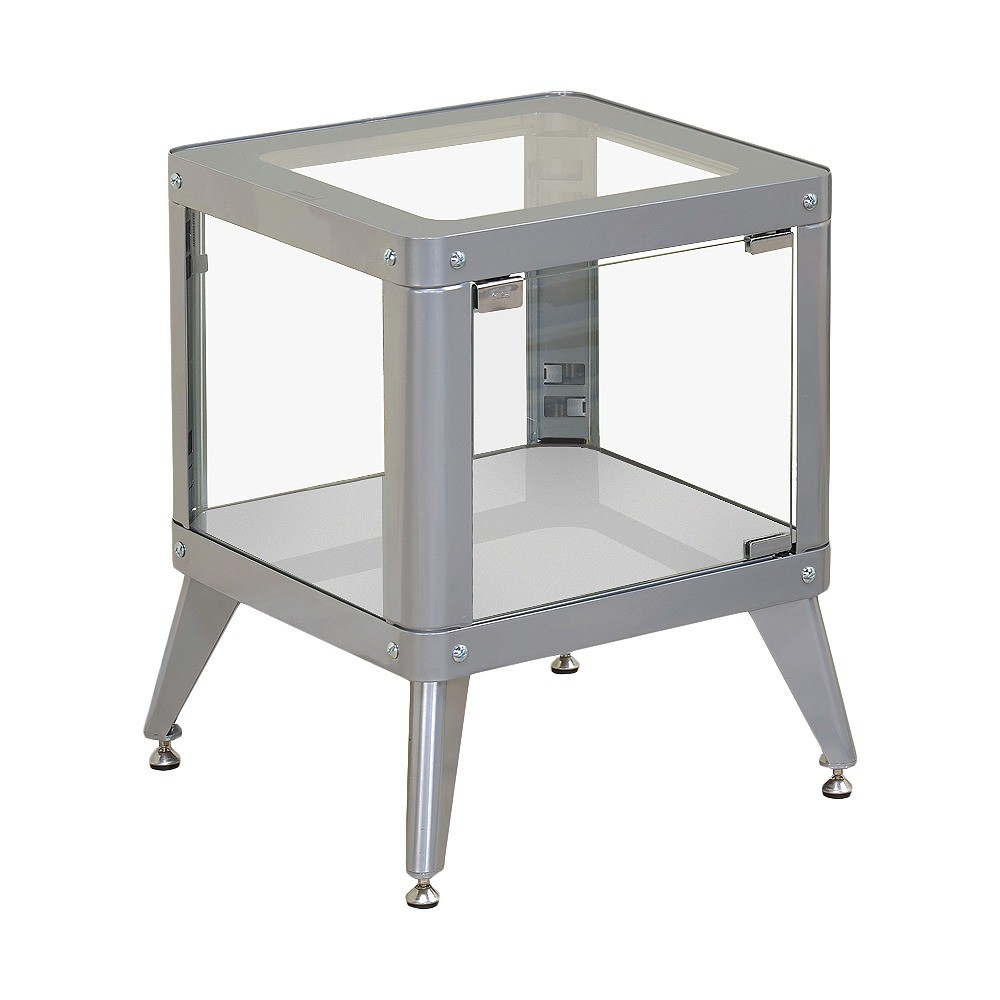 miBasics Clara Modern Vibrant Color Metal End Table - Silver
