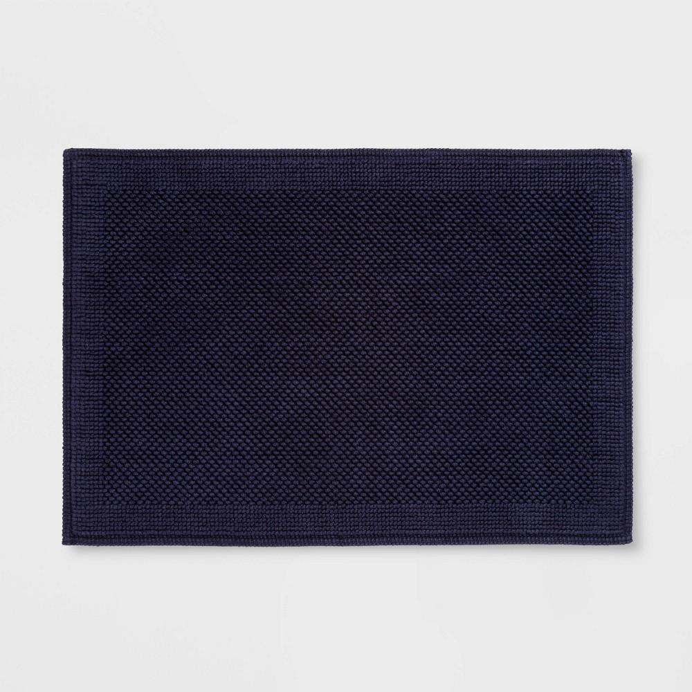 21 34 X30 34 Performance Textured Bath Mat Navy Blue Threshold 8482