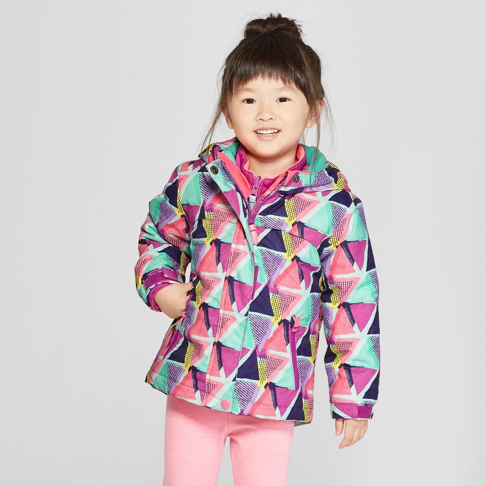 Toddler Girls' Multi Triangle 3-in-1 Jacket - Cat & Jack Purple 6