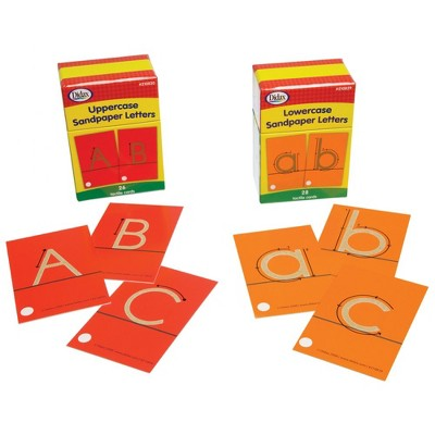 Didax Sandpaper Letter Set - Upper and Lowercase Letters