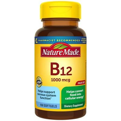 Nature Made Vitamin B12 1000 mcg Softgels - 150ct