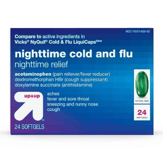 Nighttime Cold & Flu Relief Softgels - 24ct - Up&Up™