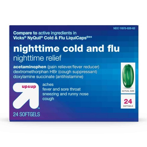 Nighttime Cold & Flu Relief Softgels - 24ct - Up&Up™ - image 1 of 4