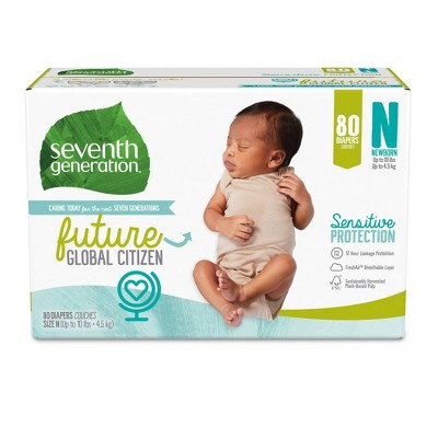 Seventh Generation M Pack Diaper - 80ct