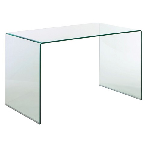 "Modern Tempered Glass 47"" Desk - Clear - ZM Home - image 1 of 3"