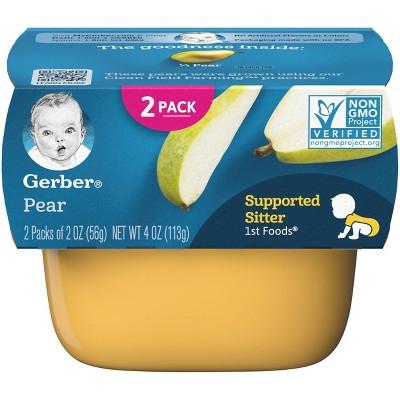 Gerber 1st Foods Baby Food Pear - 2oz (2ct)