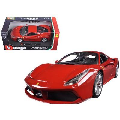 Ferrari 488 GTB Red 1/24 Diecast Model Car by Bburago