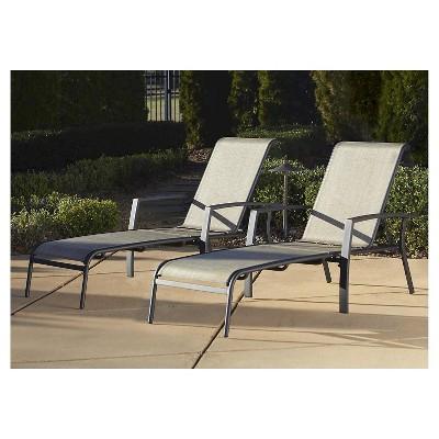 Cosco Serene Ridge 2 Piece Aluminum Outdoor Adjustable Chaise Lounge Chair Set - Brown