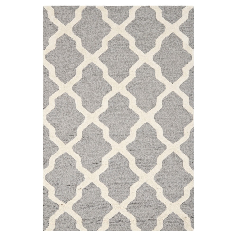 Maison Textured Area Rug - Silver/Ivory (4' x 6') - Safavieh