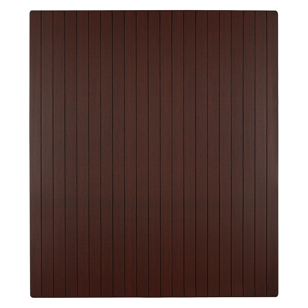 3'5X4' Bamboo Roll-Up Chairmat With No Lip Dark Brown - Anji Mountain