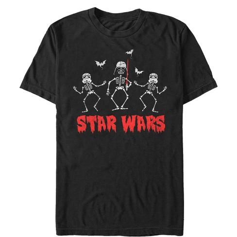 Men's Star Wars Halloween Vader Skeletons T-Shirt - image 1 of 1