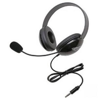 Califone Stereo Black Headphone???With To Go 3.5Mm Plug - Stereo - Mini-phone - Wired - 32 Ohm - 20 Hz - 20 kHz - Over-the-head - Binaural
