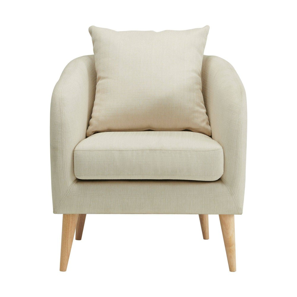 Zoe Accent Chair With Wooden Legs Natural Picket House Furnishings
