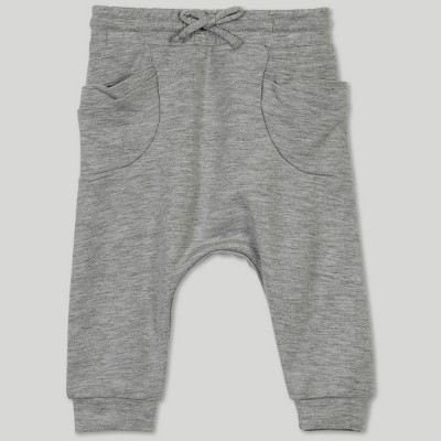 Afton Street Baby Girls' Jogger Pants - Gray Newborn