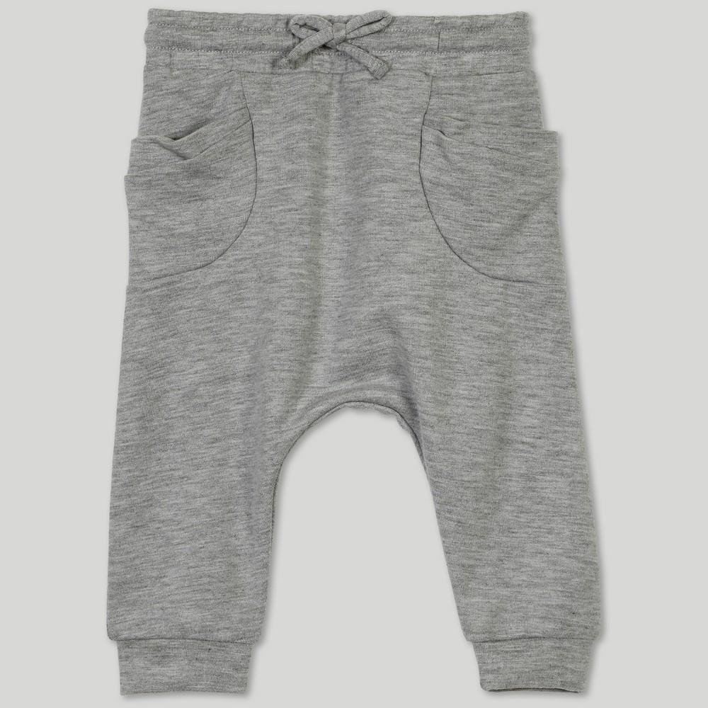 Afton Street Baby Girls' Jogger Pants - Gray 0-3M
