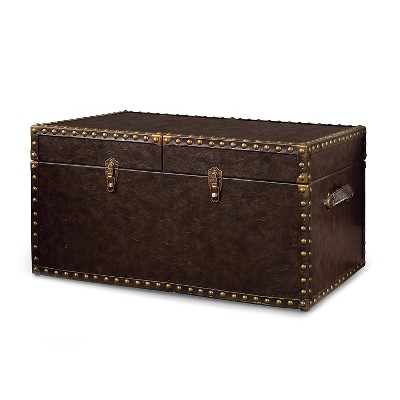 Wilbrin Storage Trunk Antique Brown - HOMES: Inside + Out