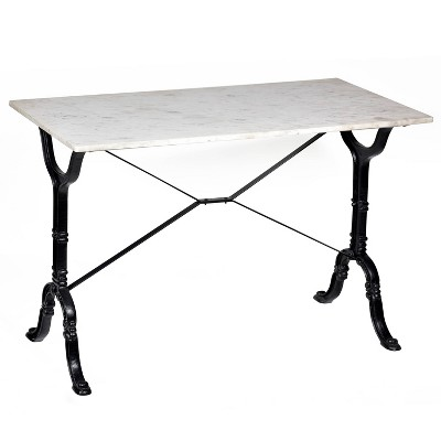 Draven Marble Top Bar Table White/Black - Carolina Chair & Table