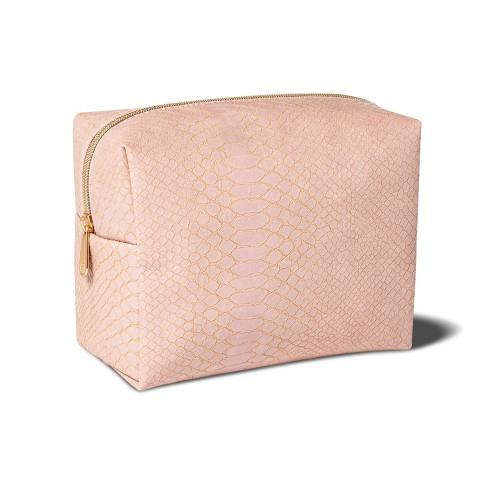 Sonia Kashuk™ Loaf Bag - Pink Faux Snake - image 1 of 2