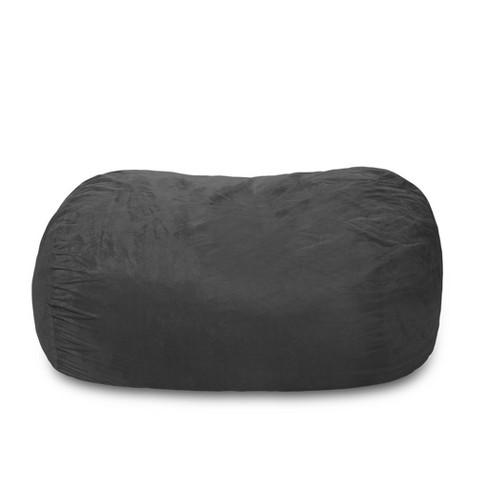 Phenomenal Large Memory Foam Bean Bag Lounger 6 Ft Charcoal Relax Sacks Short Links Chair Design For Home Short Linksinfo