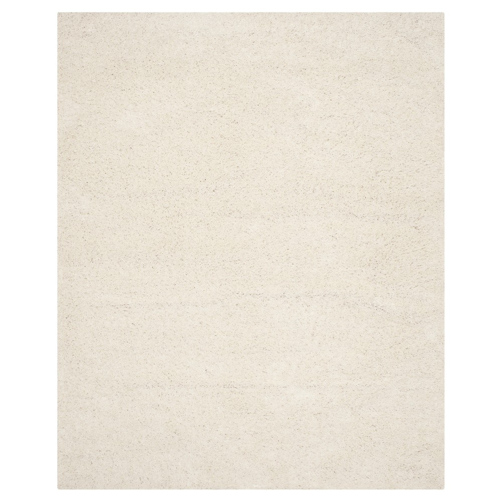 Solid Loomed Area Rug White