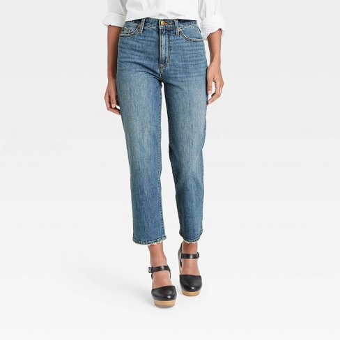 Women's Super-High Rise Vintage Cropped Straight Jeans - Universal Thread™ - image 1 of 3