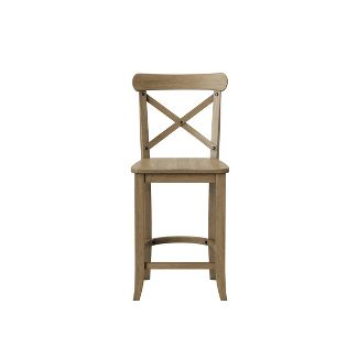 """24"""" Litchfield X-Back Counter Stool Driftwood Brown - Threshold™"""