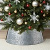 25in Galvanized Christmas Tree Collar - Wondershop™ - image 2 of 3