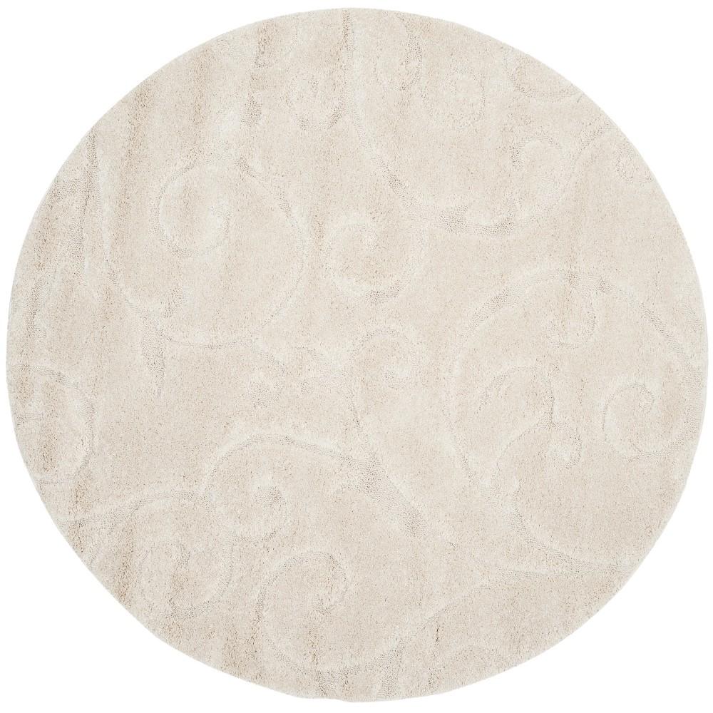 5 39 Swirl Loomed Area Rug Cream Safavieh