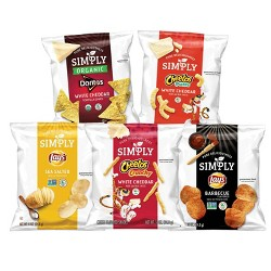 Simply Brand Snacks Variety Pack - 36ct