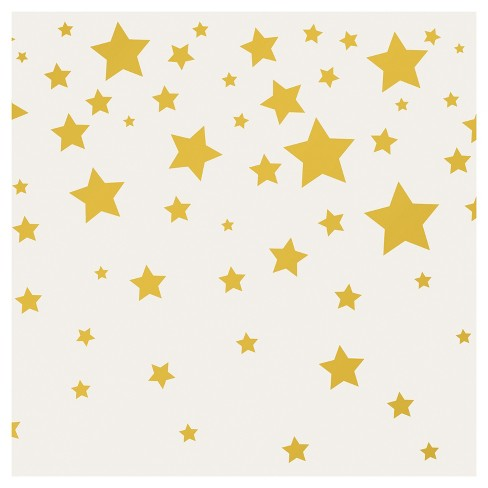 Tempaper - Kids Falling Stars Self-Adhesive Removable Borders + Stripes - Gray & Metallic Gold - image 1 of 4