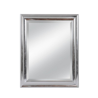 "28"" x 34"" Concert Beveled Glass Wall Mirror with Silver Frame - Alpine Art and Mirror"