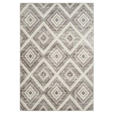 Gray/Ivory Geometric Loomed Area Rug 5'1 X7'6  - Safavieh