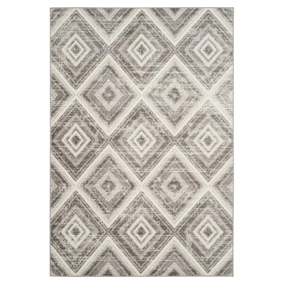 Gray/Ivory Geometric Loomed Area Rug 8'X10' - Safavieh