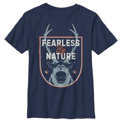 Boy's Frozen 2 Sven Fearless By Nature Crest T-Shirt