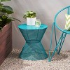 Nevada Iron Modern Side Table - Matte Teal - Christopher Knight Home - image 2 of 4