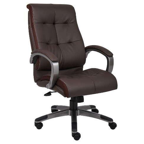 Double Plush High Back Executive Chair Black - Boss Office Products - image 1 of 2