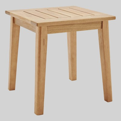 Viewscape Outdoor Patio Ash Wood End Table - Natural - Modway