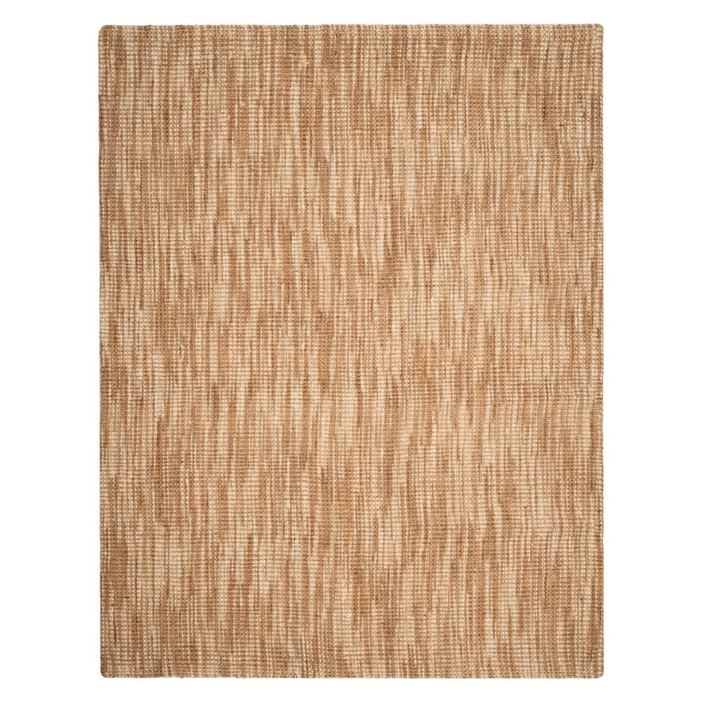 9'X12' Solid Woven Area Rug Natural/Cream - Safavieh, White