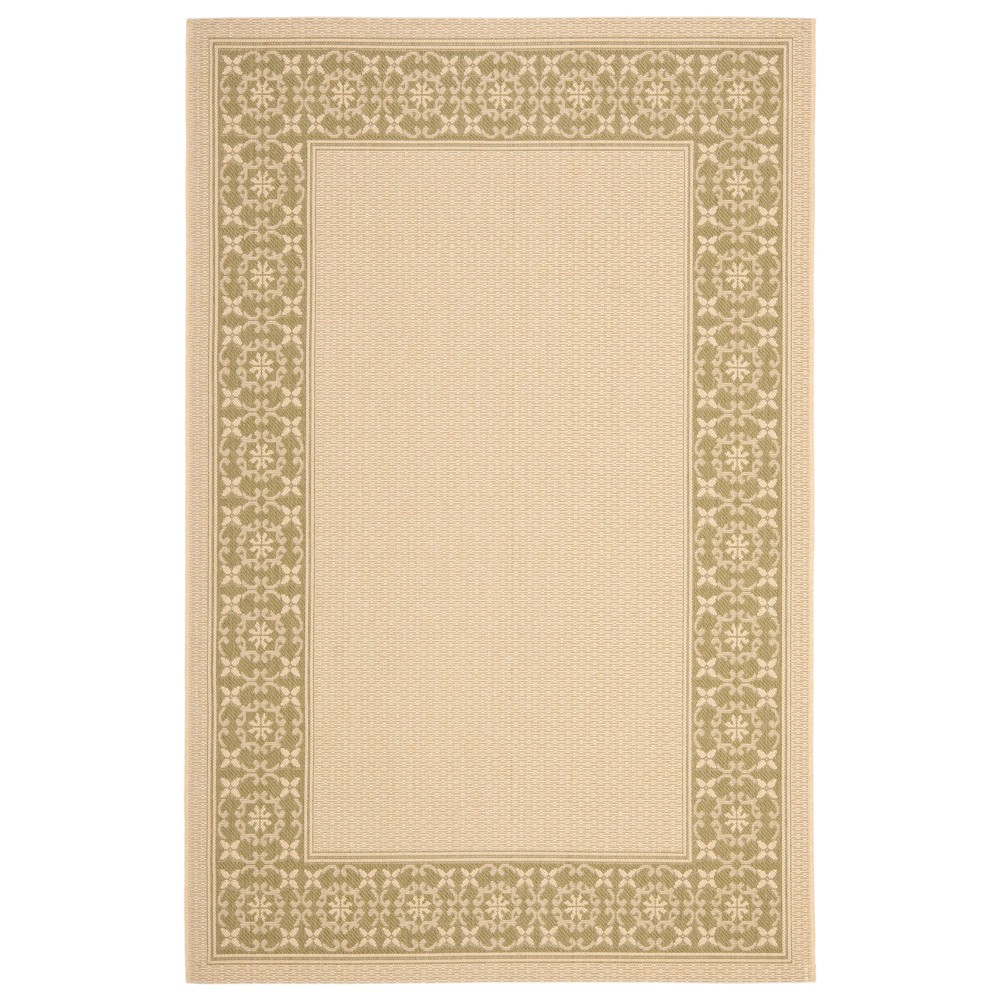 Eve Rectangle 8' X 11' Outer Patio Rug - Cream / Green - Safavieh, Ivory/Green