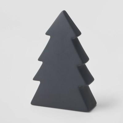 7in Ceramic Christmas Tree Decorative Figurine Dark Gray - Wondershop™