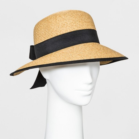 523cdfa6e04 Women s Backless Floppy Hat With Bow - A New Day™ Natural   Target