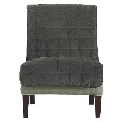 Antimicrobial Quilted Armless Chair Furniture Protector - Sure Fit