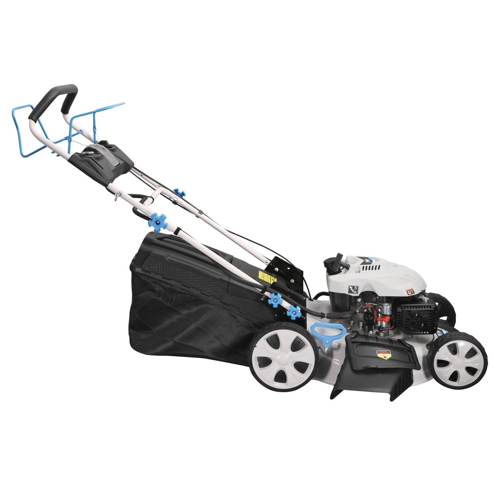 "Image of ""21"""" 3-in-1 Electric Start Self Propelled Lawn Mower White - Pulsar"""