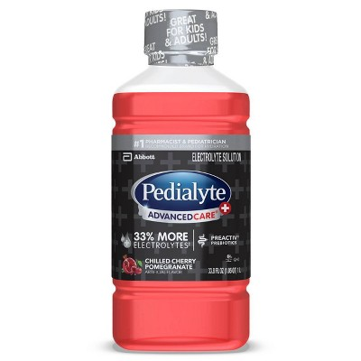 Pedialyte AdvancedCare Plus Electrolyte Solution - Chilled Cherry Pomegranate - 33.8 fl oz