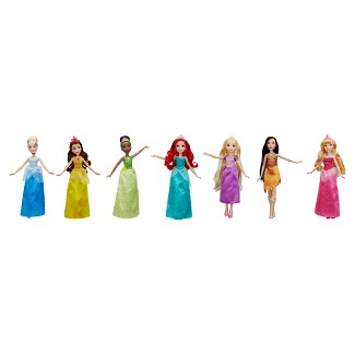 Disney Princess Sparkling Styles Dolls - 7pk