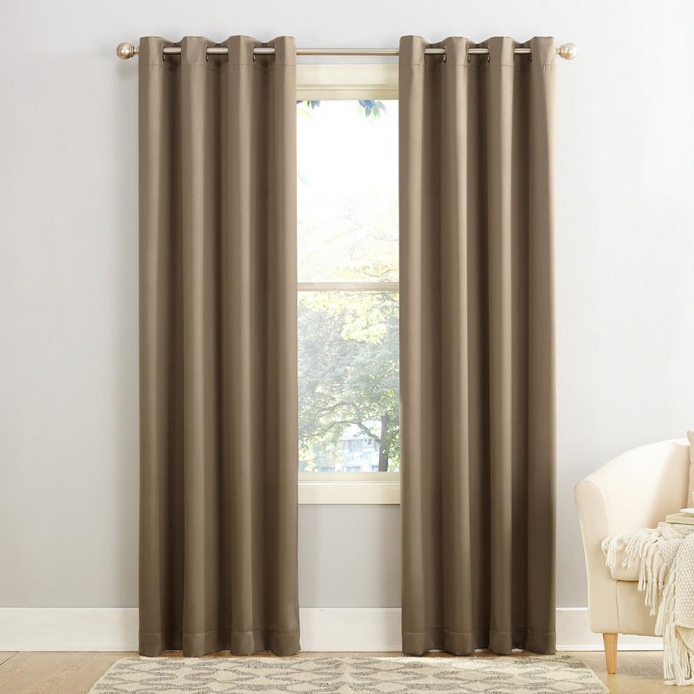 Seymour Energy Efficient Grommet Curtain Panel Mocha (Brown) 54