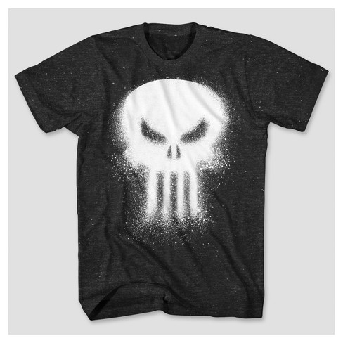 c8bb7108 Men's Marvel® Punisher Spray Paint Graphic T-Shirt - Black : Target